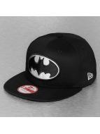 New Era Black White Basic Batman Snapback Cap Black/White