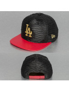 New Era Snapback Caps Leather Wave Los Angeles Dodgers 9Fifty svart