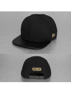 New Era Snapback Caps Faux Leather 9Fifty svart