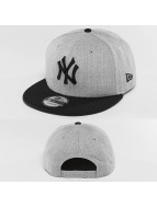 New Era Snapback Caps Team Heather Mesh NY Yankees szary