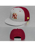New Era Snapback Woven Front Visor New York Yankees gris