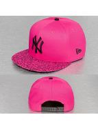 New Era Snapback Crackled Bright NY Yankees magenta