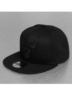 New Era Snapback NBA Black On Black Chicago Bulls 9Fifty noir