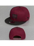 New Era Snapback Contrast Heather Patch 9Fifty rouge