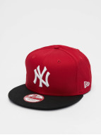 New Era Snapbackkeps MLB Cotton Block NY Yankees röd