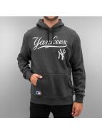 New Era Sweat à capuche MLB NY Yankees PO gris