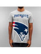 New Era T-Shirt Big Logo New England Patriots grau