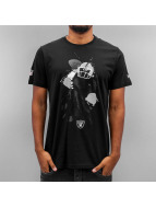 New Era T-Shirt Quarterback Splash Oakland Raiders schwarz