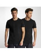 New Era T-Shirty 2er Pack Pure czarny
