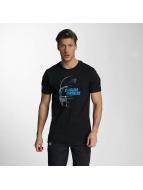 New Era T-Shirty NFL Headshot Carolina Panthers czarny