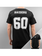 New Era T-Shirty Team Apparel Supporters Oakland Raiders czarny