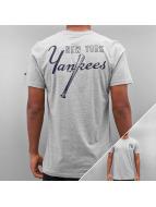 New Era T-Shirty MLB Pop BK Script NY Yankees szary