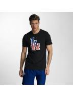 New Era T-skjorter West Coast LA Dodgers Logo svart