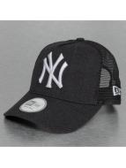 New Era Trucker Cap Heather Team NY Yankees blau