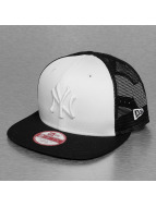 New Era Trucker Cap MLB NY Yankees Contrast Panel weiß