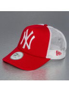 New Era Trucker Capler Clean NY Yankees kırmızı