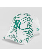 New Era Trucker Caps Sandwash Print NY Yankees hvit