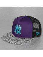 New Era Truckerkeps Elephant Hook NY Yankees lila