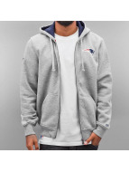 New Era Zip Hoodie NFL Full New England Patriots grå
