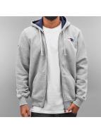 New Era Zip Hoodie NFL Full New England Patriots grau