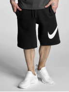 Nike FLC EXP Club Shorts Black/White