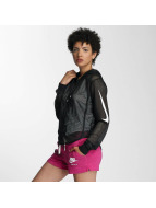 Nike Демисезонная куртка NSW FZ Crop SWSH MSH черный