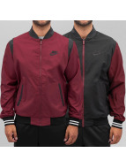 Nike Blouson Teddy Woven Reversible Players rouge