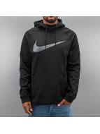 Nike Bluzy z kapturem Therma Training czarny