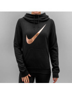 Nike Bluzy z kapturem Club Funnel Graphic czarny