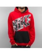 Nike Bluzy z kapturem City Lights Fleece czerwony
