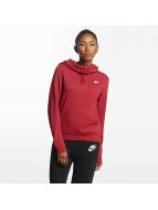 Nike Bluzy z kapturem Sportswear Fleece czerwony
