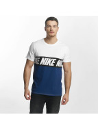 Nike NSW AV15 Black Repeat T-Shirt White/Binary Blue/Black
