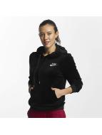 Nike NSW Velour Hoody Black/Black/Metallic Silvern