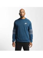 Nike Sportswear Advance 15 Fleece Sweatshirt Space Blue/Black/Iced Jade/White