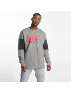 Nike Air Parted Sweatshirt Carbon Heather/Anthracite/Siren Red