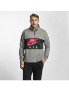 Nike NSW Air Fleece Sweatshirt Carbon Heather/Anthracite/Siren Red