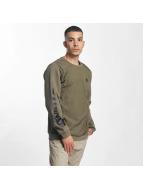 Nike Crew Fleece Hybrid Sweatshirt Medium Olive/Medium Olive/Black