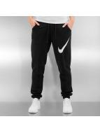 Nike Joggebukser W NSW FLC REG GFX1 svart