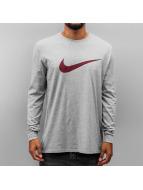 Nike Longsleeve Icon Swoosh grau