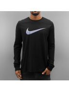 Nike Longsleeve Icon Swoosh schwarz