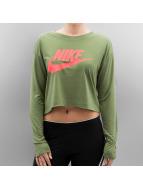Nike Maglietta a manica lunga W NSW  HBR Crop verde
