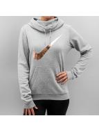 Nike Mikiny Club Funnel Graphic šedá