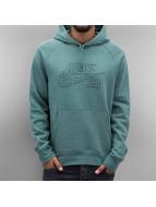 Nike SB Bluzy z kapturem Icon Grid Fill turkusowy