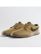 Nike SB Solarsoft Portmore ll Skateboarding Sneakers Golden Beige/Black/Gum Light Brown/White