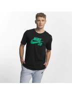 Nike SB Logo T-Shirt Black/Neptune Green