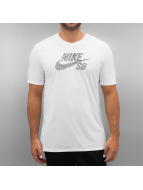 Nike SB T-Shirty Icon Dots bialy