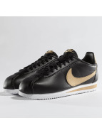 Nike Classic Cortez Leather Sneakers Black/Metallic Gold_Colored