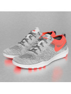 Nike Women's Free Focus Flyknit Training Sneakers Pure Platinum/Total Crimson/Cool Grey