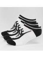 Nike Sukat Striped No-Show valkoinen