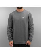 Nike Svetry NSW Fleece Club šedá